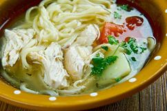 Uzbek chicken soup Stock Photo