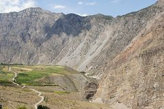 Uzbek enclave near mountaineering camp Dugoba Royalty Free Stock Photography