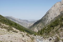 Uzbek enclave near mountaineering camp Dugoba Royalty Free Stock Photos