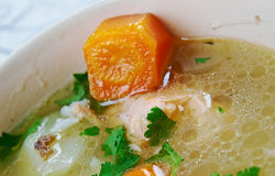 Uzbek fish soup Royalty Free Stock Photos