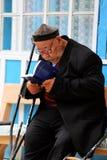 Uzbek Man Reading Bible Stock Image