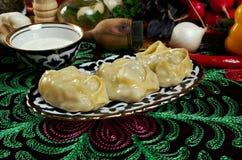 Uzbek  manti Stock Photography