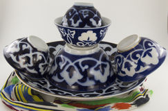 Uzbek national dish and cup Stock Images