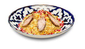 Uzbek national dish pilaf Royalty Free Stock Photography