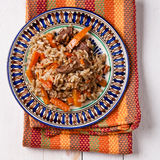 Uzbek national dish plov Stock Photography