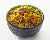 Uzbek national dish plov Royalty Free Stock Photos