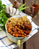Uzbek national dish plov in a bowl Royalty Free Stock Images