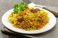 Uzbek national dish plov Royalty Free Stock Photography