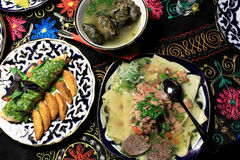 Uzbek national dishes Stock Image
