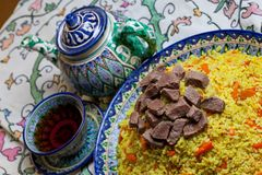 Uzbek pilaf Royalty Free Stock Images