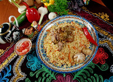 Uzbek  pilaf . Royalty Free Stock Photo