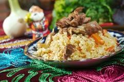 Uzbek  pilaf . Royalty Free Stock Photography