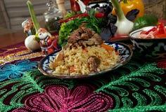 Uzbek  pilaf . Stock Images