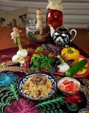 Uzbek  pilaf . Stock Photo