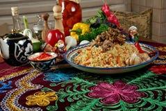Uzbek  pilaf . Stock Photos