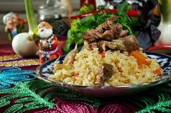Uzbek  pilaf . Royalty Free Stock Images