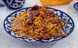 Uzbek pilau Royalty Free Stock Photo