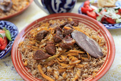 Uzbek pilau Royalty Free Stock Photography