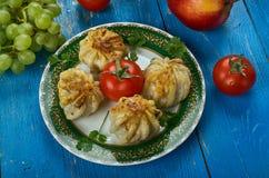 Uzbek Qovurma manti Stock Photography