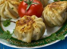 Uzbek Qovurma manti Royalty Free Stock Photos