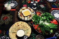 Uzbek snacks Royalty Free Stock Image