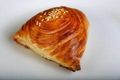 Uzbek traditional pastry - samsa Stock Image