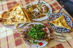 Uzbek Tradycyjna kuchnia 01 obrazy royalty free