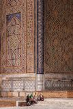 Uzbek women in Samarkand royalty free stock photo