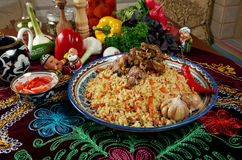 Uzbeka pilaf Fotografia Stock