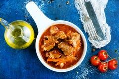 uzbeki för stew för dimlamamatmeat nationell Royaltyfri Foto