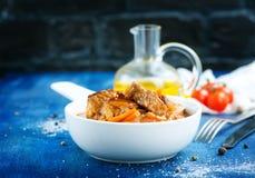 uzbeki för stew för dimlamamatmeat nationell Arkivbild