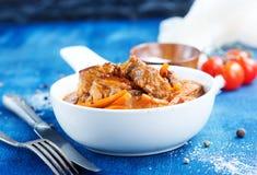 uzbeki för stew för dimlamamatmeat nationell Royaltyfri Fotografi