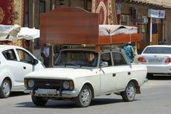 Uzbekisk flyttning, Bukhara, Uzbekistan Arkivbild