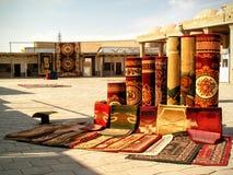 Uzbekiska mattor Fotografering för Bildbyråer