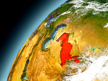 Uzbekistán de la órbita de Earth modelo Fotografía de archivo libre de regalías