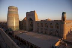 Uzbekistán. The sunset in khiva, usbekistan Stock Photos