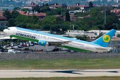 Uzbekistan airlines Royalty Free Stock Image