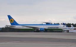 Uzbekistan Airways airplane stock photos