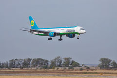 Uzbekistan Airways Boeing 757 Stock Photo