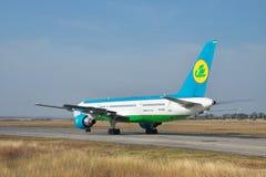 Uzbekistan Airways Boeing 757 Stock Photography