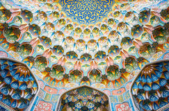 Uzbekistan. Bukhara, detail of the decorations of the Taqi Sarrafon market in the old city center Stock Photos