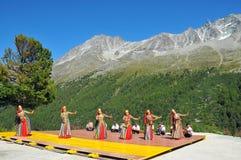 Uzbekistan Dance Group Stock Photo