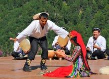 Uzbekistan Dance Group Royalty Free Stock Photography