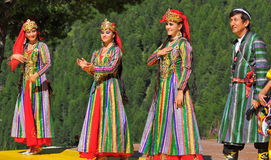 Uzbekistan Dance Group Stock Photos