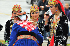 Uzbekistan Dance Group Royalty Free Stock Photography