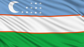 Uzbekistan Flagю stock video footage
