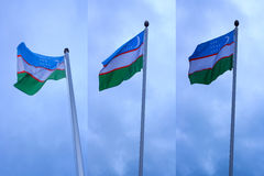 Uzbekistan Flag Royalty Free Stock Photography