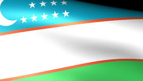 Uzbekistan Flag Waving. Video footage stock video footage
