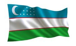 Uzbekistan flaga Serie ` flaga świat ` kraju - Uzbekistan flaga Fotografia Royalty Free