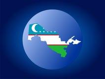 Uzbekistan globe Stock Image
